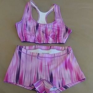 New Balance Workout Shorts and Sport Bra Set